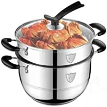 PPSM Steamer, 304 Stainless Steel Two-layer Steamer, 26cm Can Be Covered And Covered, Gas Stove Induction Cooker Gas Stove...