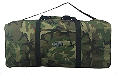 "Heavy Duty Cargo Duffel Large Sport Gear Drum Set Equipment Hardware Travel Bag Rooftop Rack Bag (42"" x 20"" x 20"", Camouflage)"