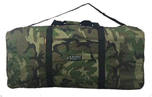 Heavy Duty Cargo Duffel Large Sport Gear Drum Set Equipment Hardware Travel Bag Rooftop Rack Bag (42  x 20  x 20 , Camouflage)
