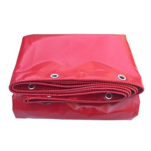 JIANFEI Plane Wasserdicht Regenfest Sonnenschutzmittel Staubdicht Anti-Aging-PVC, Dicke 0,42 Mm Kann Angepasst Werden (Farbe : Red, größe : 2x4m)