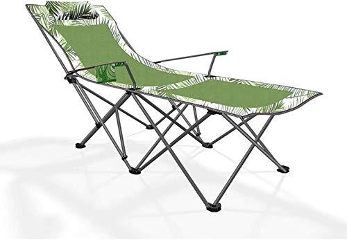 Al aire libre sentarse y acostarse Sillas doble finalidad de playa, sillas plegables ultraligeros portátil plegable que acampa la almuerzo Camas (Color: [tipo de malla] glaciar azul), color: [Tipo de