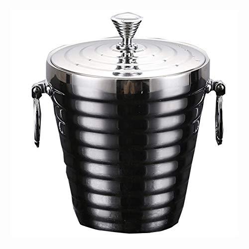 Cubo de Hielo para el Hogar/Bar Cubo de Hielo, de Acero Inoxidable Cubo de Hielo, Enfriador de Champagne Cubo de Acero Inoxidable Vino de Hielo más frío, Tornillo diseño de la Forma, Cóctel, Bar, cl