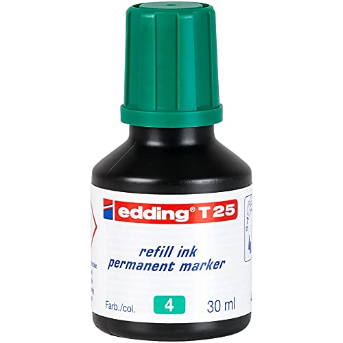 edding T25-004 - Frasco de tinta permanente de 30ml, color verde ⭐