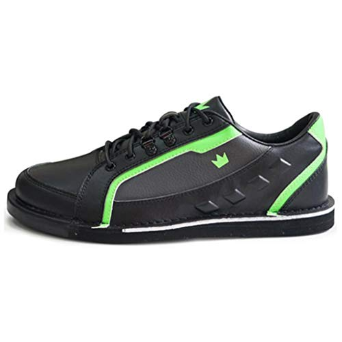 Brunswick Bowling Products Mens Punisher Bowling Shoes Left Hand- M US, Black/Neon Green, 12