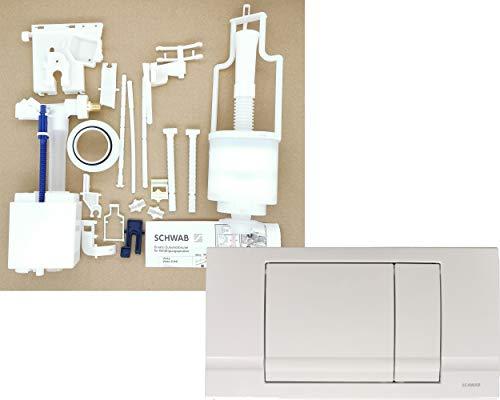 Schwab | 182.0400 Ersatzteile Paket Set inkl. Betätigungsplatte RIVA DUO 2-Mengen Renovierung Spülkasten