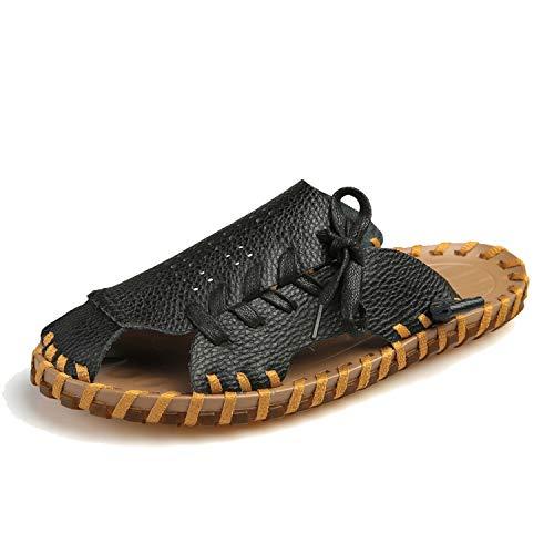 Feing slippers Pantofole da Uomo in Pelle, Pantofole da Spiaggia, Pantofole massaggianti, (Hei Se), 40 EU