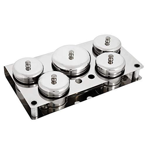 5 stks RVS Nagel Art Mini Poeder & Vloeibare Set blikjes Opbergdoos Nagel Art Acryl Vloeibare Poeder Dappen Schaal voor Nagel Art Manicure