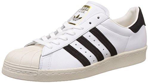 adidas Originals Superstar 80s Schuhe Herren Sneaker Turnschuhe Weiß BB2231, Größenauswahl:44