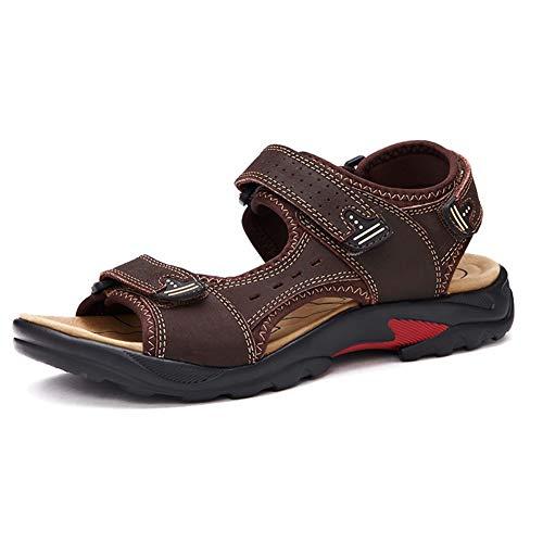 Hombres Sandalias de Cuero cómodo Suave Resistente al Desgaste no Slip Abierto Dedo del pie Zapatos de Playa Macho Verano Sandalia Calzado Casual para Nadar el Sol baño