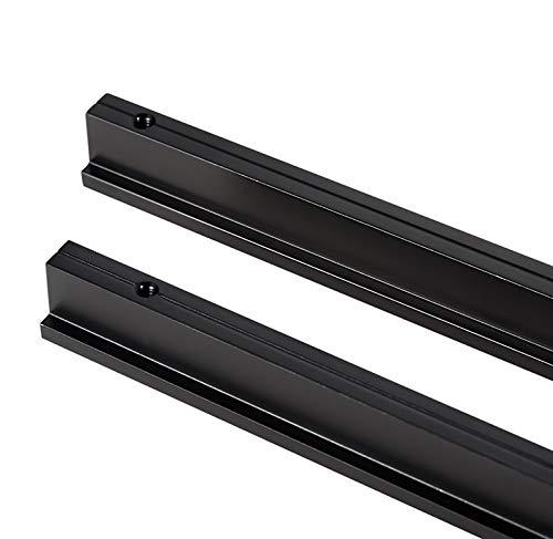Qrity 2 Stück L 90° Küchenschrank Schrank Türgriff Zugknöpfe Kommode Schubladengriff Sets, Aluminium, massiv, Lochabstand 128mm