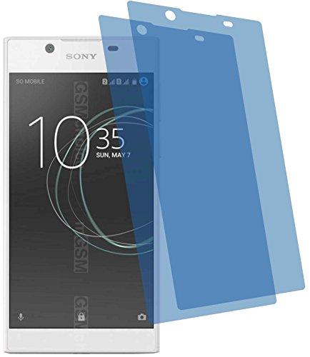 4ProTec I 2X Crystal Clear klar Schutzfolie für Sony Xperia L1 Premium Bildschirmschutzfolie Displayschutzfolie Schutzhülle Bildschirmschutz Bildschirmfolie Folie
