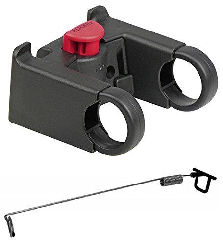 Rixen Klickfix Mushing Set - Bikeantenne und Lenkeradapter Oversize 31,8 mm für Dogscooter Hunderoller