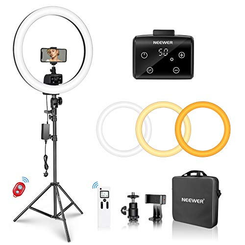 Neewer Advanced 18-inch LED Ring Light Support Manual Touch Control with...