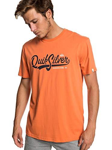 Quiksilver Quik Pool Camiseta de Manga Corta, Hombre, Naranja (Flamingo), L
