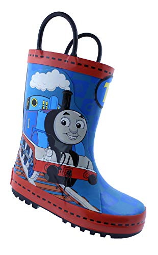 Thomas&Friends Thomas The Train Toddler Boy's Pull-On Rubber Rain Boots  Blue, 8 Toddler