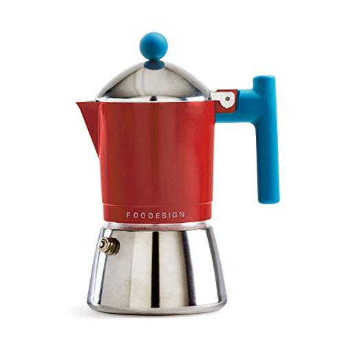 Foodesign Cafetière Moka Cocca 3 tasses, design innovant et pratique à portée de main.