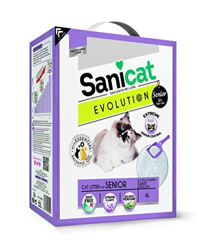 Sanicat litiere Evolution Senior 6l - pour Chat Senior,