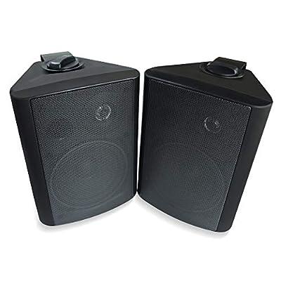 Herdio 200 Watts 5.25 Inches Indoor Outdoor Patio Deck Speakers All Weather Wall Mount Speaker System by Herdio