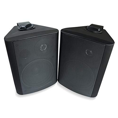 Herdio 5.25 Inches 200 Watts Indoor Outdoor Patio Deck Speakers All Weather Wall Mount System