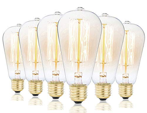 Vintage Edison Bulbs, Rolay 60w Clear Glass Dimmable Vintage...