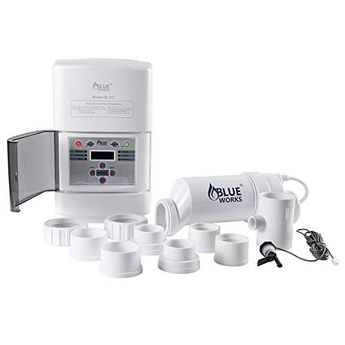 BLUE WORKS Salt Water Pool Chlorine Generator...