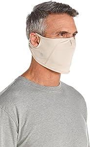 Coolibar UPF 50+ Men's Women's Blackburn UV Mask - Sun Protective (Small/Medium- Beige)