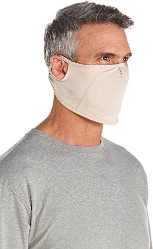 Coolibar UPF 50+ Men's Women's Blackburn UV Mask - Sun Protective (Large/X-Large- Beige)