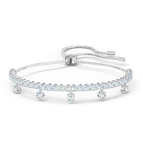 Swarovski Bracelet Subtle Drops, Blanc, Métal Rhodié