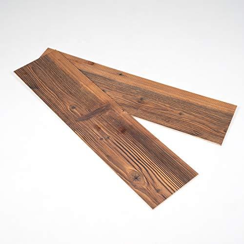 Sun Wood Stick-it Holz Wandverkleidung selbstklebend Altholz Design // Tirol 01 Wandpaneele zum Kleben Holzverblender 0,48m2 aus Fichtenholz - 2