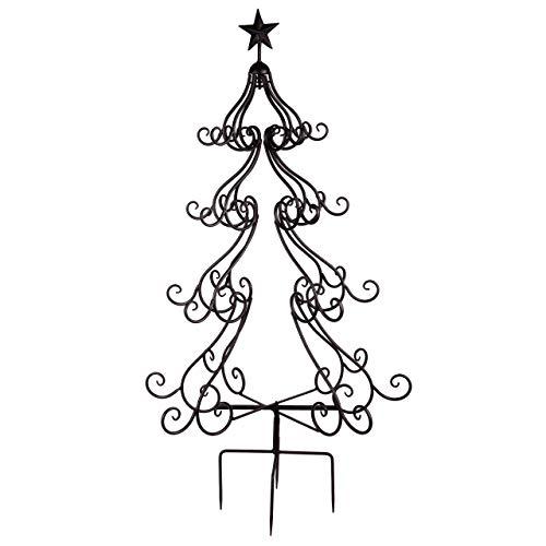 RM E-Commerce Gartenstecker Weihnachten Weihnachtsbaum Metall 123 x 66 cm, Schwarz
