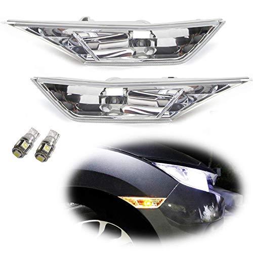 iJDMTOY JDM Clear Lens Amber LED Bulb Front Side Marker Light Kit Compatible With 2016-up Honda Civic Sedan/Coupe/Hatchback, Replace OEM Amber Sidemarker Lamps