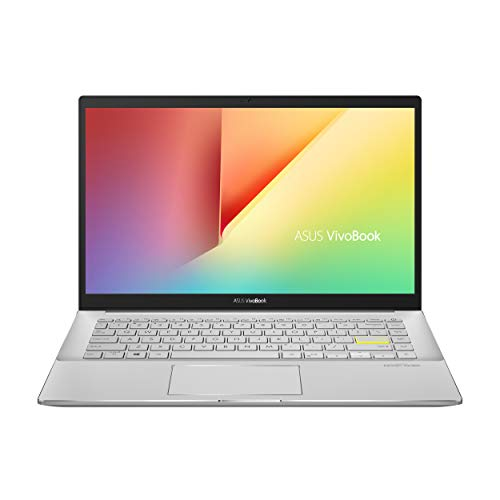 ASUS VivoBook S14 S433JQ-EB166 - Ordenador portátil de 14  FullHD (Intel Core i5-1035G1, 8GB RAM, 512GB SSD, NVIDIA MX350-2GB, Sin sistema operativo) Blanco - Teclado QWERTY Español