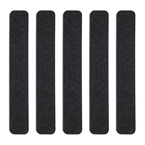 TomaiBaby 5 Piezas de Tablón de Anuncios de Fieltro Tiras Autoadhesivas Tablero de Fieltro Tira de Tablón de Anuncios Decorativo con 15 Pins de Empuje para La Oficina Barra de Salón