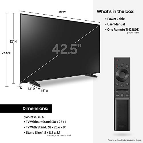 SAMSUNG 43-inch Class Q60A Series – QLED 4K UHD Smart TV with Alexa Built-in (QN43Q60AAFXZA, 2021 Model)