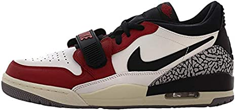 Jordan Mens Air Jordan Legacy 312 Hight Top Lace Up Basketball Shoes, Black / Varsity Red-black-cement Grey, 10.5