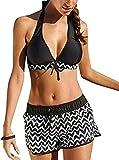 Davicher Bikini Mujer Push Up Traje de Baño Conjunto Bañador Halter Mujer Ropa de Playa Traje de Baño Bikini Sets Acolchado Bikini para Mujeres