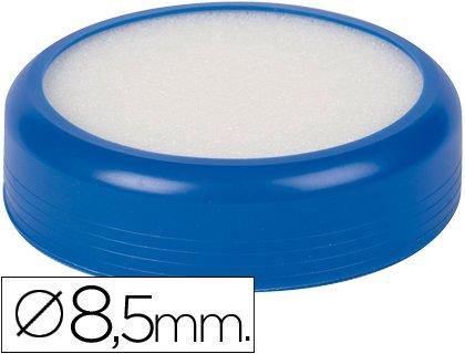 Mojasellos Base de 85 mm de diámetro de caucho en color azul