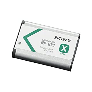 Sony NP-BX1 Batteria Ricaricabile InfoLithium Serie X per Fotocamere Compatte Cyber-Shot DSCRX100, DSCHX300 e DSCWX300, 3.6 V, 1240 mAh, Argento/Nero (B008AGLBNG) | Amazon price tracker / tracking, Amazon price history charts, Amazon price watches, Amazon price drop alerts
