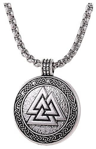 Reversty Los Adolescentes de Las Mujeres Odin Símbolo del Collar Pendiente de los Hombres de