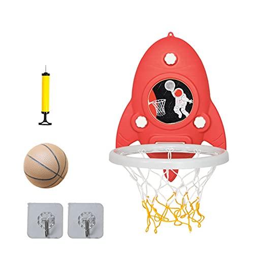 Xingang Mini baloncesto portátil aro conjunto altura ajustable sin perforación bola tablero pelota portería juguetes para niños