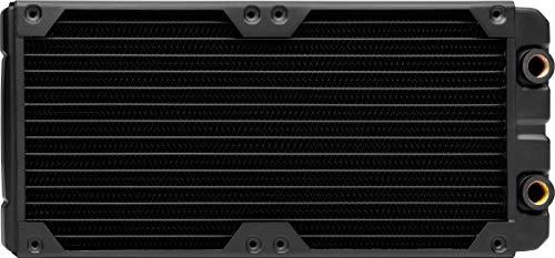 Corsair Hydro X Series, XR5 280 mm Radiador de Refrigeración Líquida (Dos Montaje de Ventilador de 140 mm, Fácil Instalación, Diseño Cobre, Guías Tornillos Ventilador Integradas, Delgado) Negro