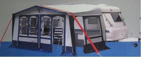 Stormband stormbeveiliging voor voortent luifel daksteunband zwart