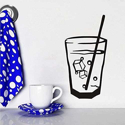ffvve DIY Cóctel de cristal de la pared de la etiqueta engomada de la pared de la etiqueta engomada de la pared de la puerta de la cocina del baño de los niños de los muebles