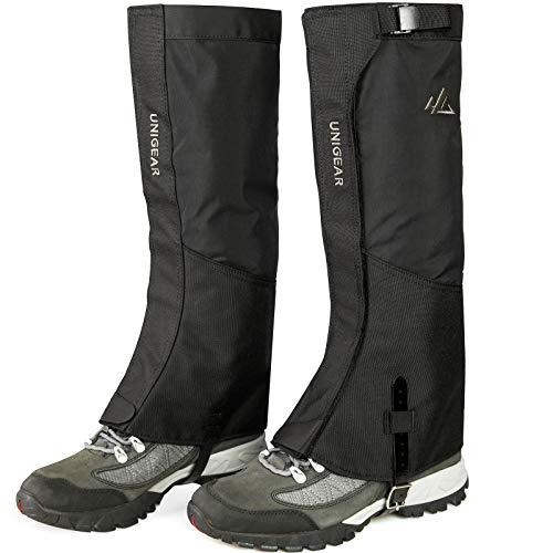 Unigear Polainas 1 Par Impermeable Prueba de Viento Nieve Lluvia Protección para Las Piernas Deporte al Aire Libre Montaña Senderismo Caza Esquí Escalada Guardia Anticorte Transpirable Viajes (L)
