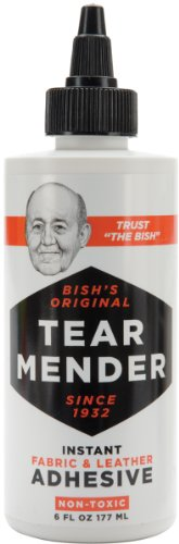 Tear Mender - TTB-6-D-B Instant Fabric and Leather Adhesive, 6 oz Bottle, TG06H