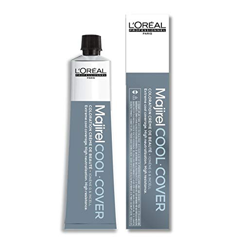 L'Oréal Professionnel Majirel Cool Cover - 7,11 mittelblond tiefes asch, Tube, 50 ml