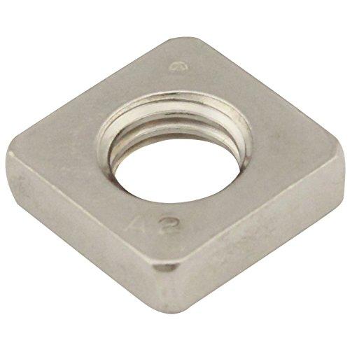 Vierkantmuttern (niedrige Form) - M3 - (50 Stück) - DIN 562 - Edelstahl A2 (V2A) - Einlegemutter - SC562 | SC-Normteile®