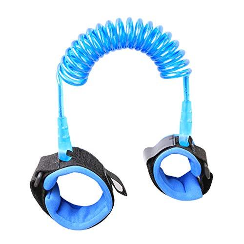 Lmbqye Baby Anti-Lost Belt, Anti-Lost Wrist Link Belt, Cuerda de Tracción Para Niños Con Bloqueo De Silbato, Anti-Lost Safety Wrist Link Ensanchado Para Niños Pequeños (Longitud: 1,5 m)