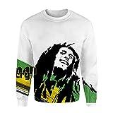 Bob Marley Pullover Ligera Estilo Sudadera Sudaderas de Moda suéter Retro Outwear Unisex (Color : A07, Size : S)