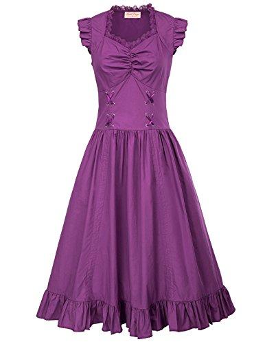 Belle Poque Bodenlanges Kleid Korsagenkleid kostüm korsettkleid Moderne kleidXL BP364-4